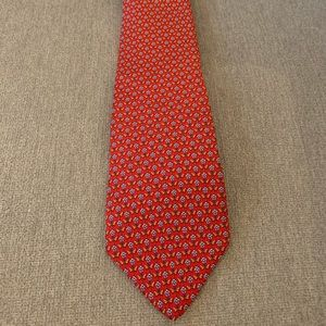 Red Salvatore Ferragamo Tie